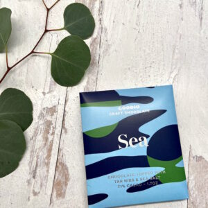 Goodio Sea: tar nibs and sea salt 71%