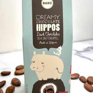 Baru Dark Chocolate w/ Caramel + Sea Salt Hippos 4pc